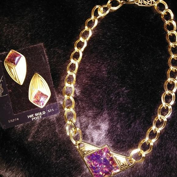 bd5e6a99e9c Yves Saint Laurent Jewelry   Necklace And Earrings Set   Poshmark